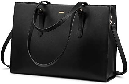 Laptop Bag for Women Professional Computer Bag Structured Leather Laptop Purse Large Laptop product image