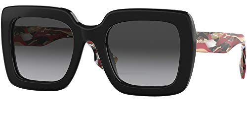 BURBERRY Gafas de Sol STRIPED CHECK BE 4284 BLACK STRIPED CHECK/GREY SHADED 52/22/140 mujer
