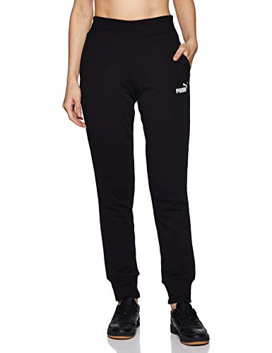 PUMA Damen Hose ESS Sweat Pants TR cl, Cotton Black, L, 851826
