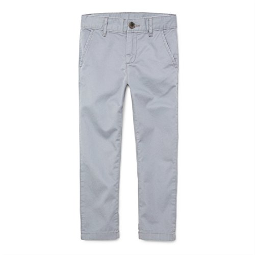The Children's Place Big Boys' Skinny Uniform Chino Pants, FIN Gray, 8