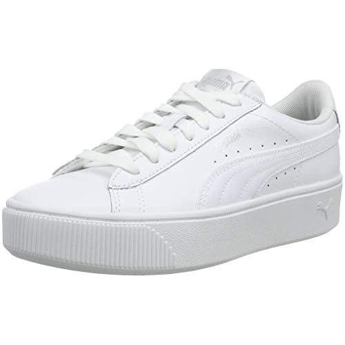 PUMA Vikky Stacked L, Scarpe da Ginnastica Donna, Bianco (White/White), 36 EU