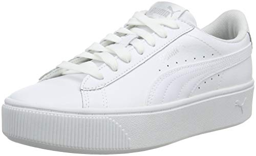 PUMA Damen Vikky Stacked L Zapatillas, White White, 42 EU