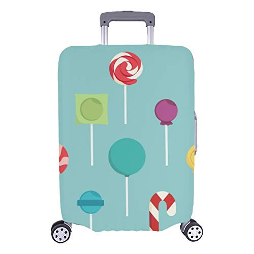 Best Luggage Cover Colorful Lollipop Set Design Sweet Durable Washable Protecor Cover Fits 28.5 X 20.5 Inch Samsonite Suitcase Protector Luggage Protector Suitcase Cover Xl Large Luggage Cover