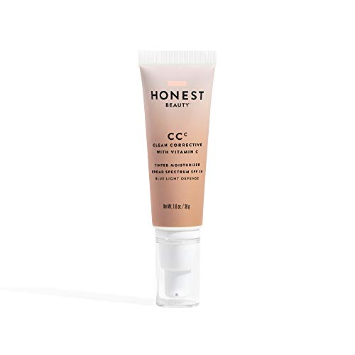 Honest Beauty Clean Corrective With Vitamin C Tinted Moisturizer Broad Spectrum SPF 30, Light | VEGAN | 6-in-1 Multitasker | Blue Light Defense | Chemical Sunscreen Free & Dermatologist Tested | 1oz