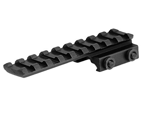 """Lion Gears BridgeMount Tactical Picatinny Cantilever .5"""" Riser, 3.73"""" Long with 9 Slots, System Oriented Design with Under The Rail Opening-Build a Flexible and Compact Mounting System, BM0905EX"""