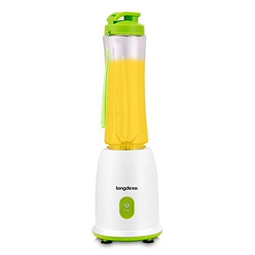 JZX Mini licuadora Exprimidor casero, Máquina de jugo, Máquina de jugo, Máquina de cocina, Mini taza de acompañamiento portátil,Blanco + verde