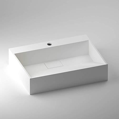 SCHWAN SPA - Lavabo da appoggio, design Torino, 492 x 374 x 112 mm, colore: Bianco opaco