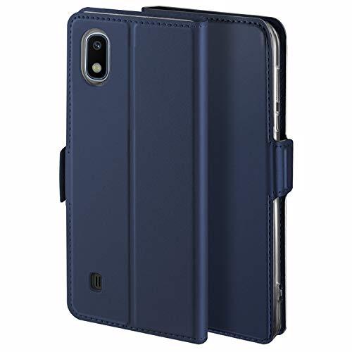 YATWIN Cover Compatibile per Samsung Galaxy A10 Case, Pelle Premium Custodia per Samsung A10 Flip Caso, Interno TPU Magnetica Portafoglio Slot Cover con Funzione Stand per Samsung A10, Blu