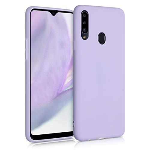 kwmobile Custodia Compatibile con Samsung Galaxy A20s - Cover in Silicone TPU - Back Case per Smartphone - Protezione Gommata Lavanda