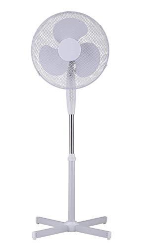 Ecoix Standventilator mit höhenverstellbaren Standfuß | neigbar & Oszillationsfunktion | 3 Geschwindigkeitsstufen
