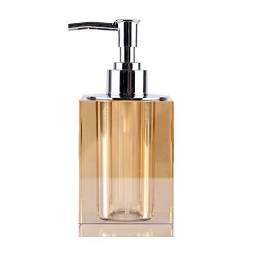 Dispensador de jabón de cocina De gama alta de lujo Crystal Brown jabón líquido Botella Botella Baño Prensa Sub-botella de champú cosmético baño botella 230ml botella Dispensador de jabón líquido para