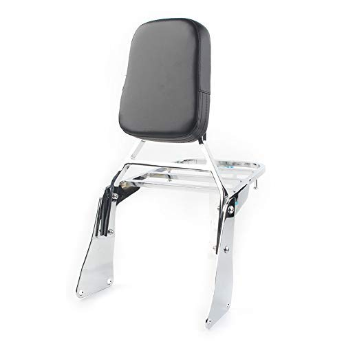 Three T Motorcycle Detachable Passenger Backrest Sissy Bar with Luggage Rack Compatible With Vulcan 1500 VN1500 1996-2008