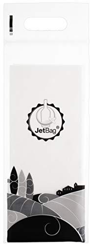 Jet Bag Bolsa para Botellas, Plástico y Algodón, Blanco, 49x18x0.2 cm