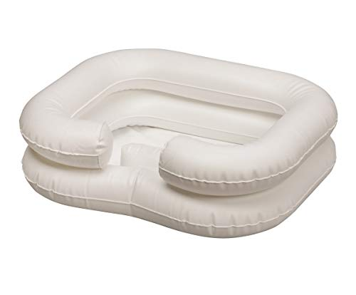 Comfort Axis Deluxe Inflatable Shampoo Basin White