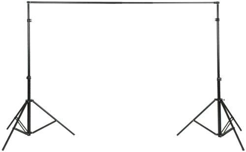 Walimex XXL Hintergrundsystem (2 Stative und 5 steckbare Querstangen, 190-465 cm, inkl. Transporttasche)