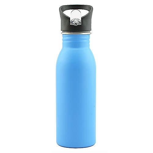 Acero Inoxidable Botella De Agua para NiñOs, Aspiradora De Acero Inoxidable De Pared Simple, 500 Ml, para Beber Al Aire Libre, Correr, Andar En Bicicleta, Caminar, Acampar,H