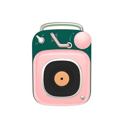 핑크 블루투스 스피커 새로운 원자 레코더 금속 질감 미니 크리 에이 티브 선물 사운드
