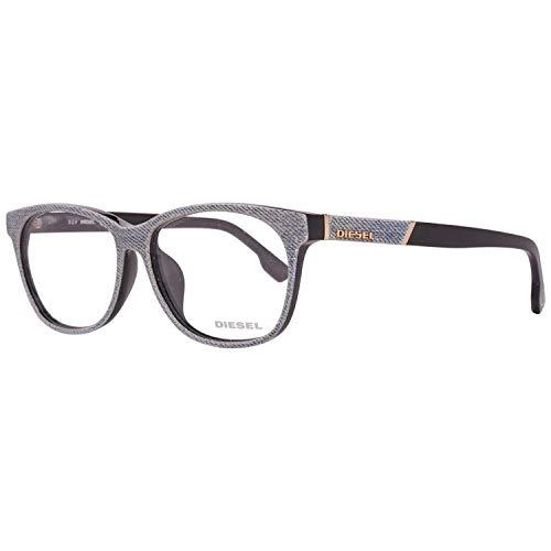 Diesel Brillengestelle DL5144-D 5805A Rund Brillengestelle 58, Blau