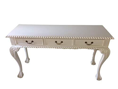 Chippendale Sekretär Farbe: weiß Schreibtisch Schminktisch Länge135xHöhe76xBreite43cm Nr.1