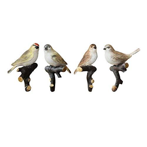 LIN HE SHOP Crochet de résine de 3M Oiseaux, Support de Sacs à Main de clés de Porte, tenture de Mur de Cintre d'oiseau de Chambre à Coucher, pour la décoration de Mur