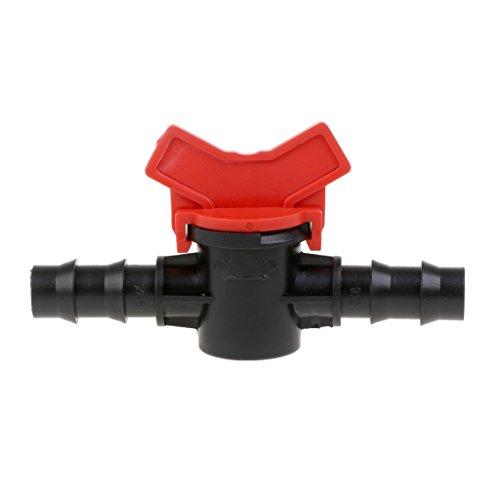 JOYKK 2-weg aansluitadapter snel uitschakelbare bewateringswaterslang-ventielschakelaar van kunststof - zwart en rood