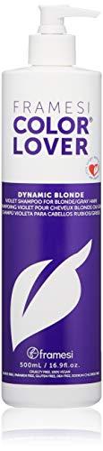 Framesi Color Lover Dynamic Blonde Purple Shampoo, Violet Shampoo, 16.9 fl oz