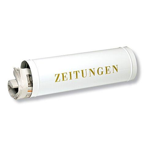 Burg-Wächter Zeitungsrolle mit Kunststoffabdeckung, Briefkastenergänzung, 800 W, Weiß