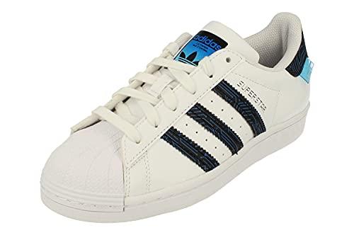 Adidas Superstar Junior Running Trainers (UK 4.5 US 5 EU 37 1/3, White Royal Blue FY1552)