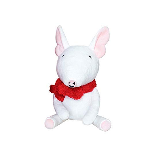 Fymmm`shop Shenlanyu Plüschtiere 30 cm Plüschtier Bullterrier Hundepuppe Kuscheltier Weicher Hündchen Für Kinder Geburtstagsgeschenk