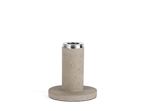 Zilverstad Kandelaar Solido, klein, beton, grijs, 9,5 x 9,5 x 10,5 cm