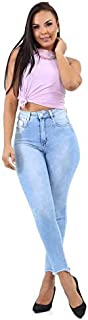 Calça Jeans Feminina Super Lipo Sawary Cintura Alta Elastano