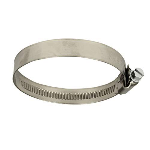 BiBa-Schrauben | Schlauchschellen Edelstahl Rohrschellen | 25 bis 40 mm Spannbereich Bandbreite 12 mm | Trapezgewinde | A4 V4A | (5 Stück) | Form A | DIN 3017 | Schneckenantrieb