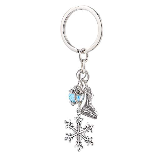 BESTOYARD Christmas Keychain Snowflake Pendant Ornaments Skiing Keychain Skiing Charm Party Supplies for Car Bag Christmas Party Gifts