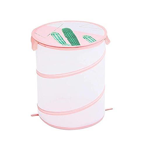 Parshall, cesto portaoggetti in rete traspirante, con chiusura a cerniera, in poliestere, per biancheria, organizer