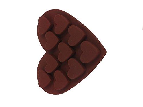 10Cuore Stampo in silicone stampo cioccolatini cubetti di ghiaccio Forma stampo Cup Cake biscotto torta fai da te Cottura decorare forme di Royal House ware
