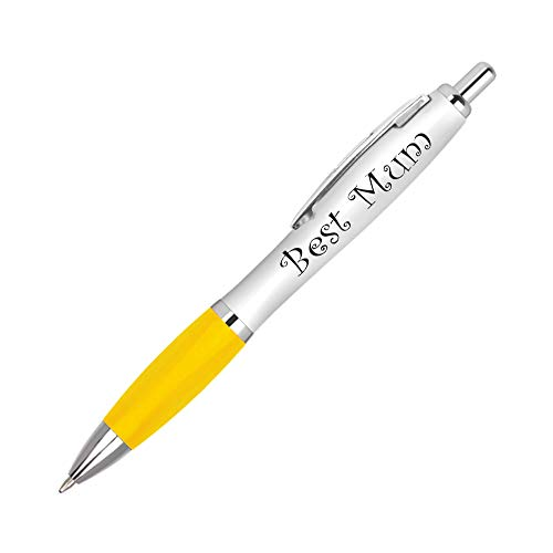 1 x Yellow Best Mum Pen – Mother Mummy Mother's Day Birthday Christmas #UV0004