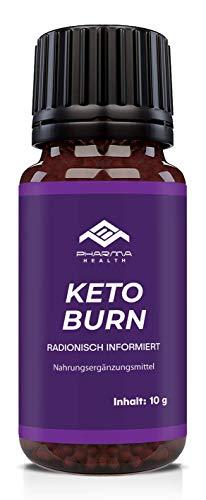 PHARMA HEALTH | Keto Burn | Globuli radionisch informiert | FBURN | für Frauen und Männer | schnell und einfach | 10g