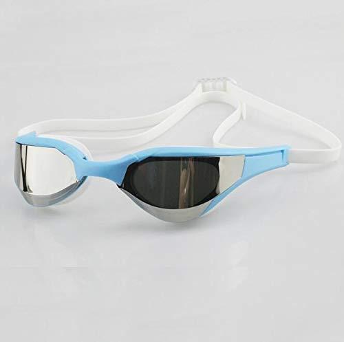 FEIYI Gafas de natación profesionales con revestimiento antivaho HD para competición, ultraligeras y antirayos UV (color: WLS)
