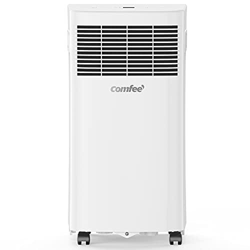 Comfee Aires acondicionados móviles, 5000 Btu, 1.4kW, Función 3 en 1 refrigeración, deshumidificación y ventilación, Eco R290 MPPHA-05CRN7 Blanco [Clase energética A]