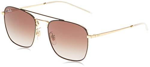 Ray-Ban 0RB3588 Gafas de sol, Gold Top on Brown, 55 para Hombre