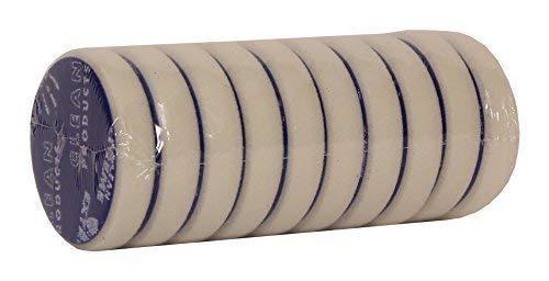 Cleanproducts Eponge de Polissage Abrasiv-Retikuliert Blanc 80/20 mm - Sertie 10-pc - au Polissage Voiture avec Polisseur avec Préparation de la Voiture Fahrzeugaufbereitung