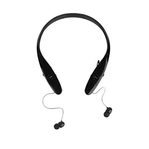 DAILY Dailyinshop A Prueba de Sudor Recargable Banda para el Cuello inalámbrica Auriculares estéreo en la Oreja Deportes Running Auriculares Micrófono para iPhone