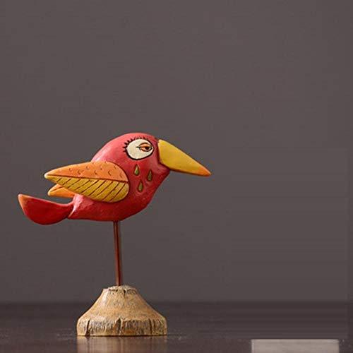 esculturas decoración del hogar Estatuilla Figuras coleccionables Resina Hierro Forjado Decoración de Aves Hogar Sala de Estar Oficina Gabinete de Vino Artesanía Regalos-As_Shown_14Cm