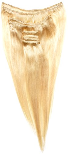 Supermodel Extensions de cheveux naturels à clipser Blond très clair nuance 60 35,5 cm
