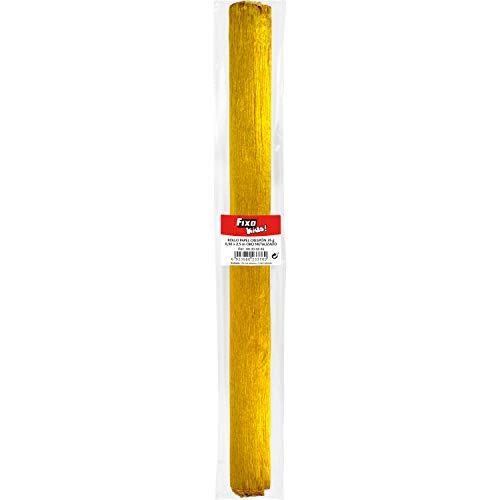 Fixo Paper 68000665. Rollo de Papel Crespón, Oro Metalizado, 0,50x2,5 metros, 35...