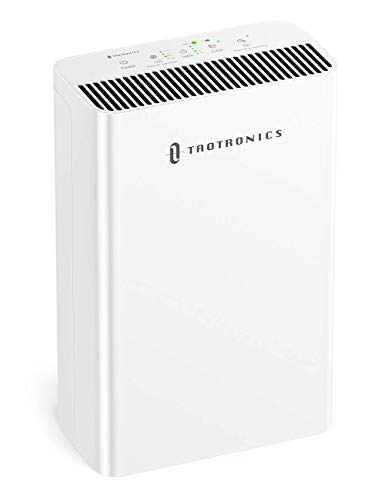 TaoTronics HEPA Air Purifier for Home, Allergies Smoke Pollen Pets, Home Air Cleaner Filtration System, Odors Dust, Sleep Mode Timer Auto Mode Negative Ion Mode, Air Quality Indicator (Renewed)