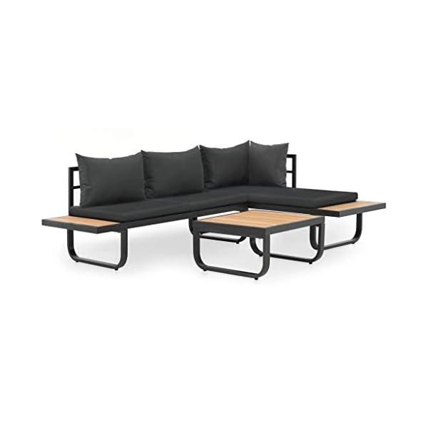 Festnight Ecksofa Sitzgruppe Loungesofa Gartensofa Gartenmöbel Sofa |1 x 2-Sitzer-Sofa & 1 x Ecksofa & 1 x Beistelltisch…
