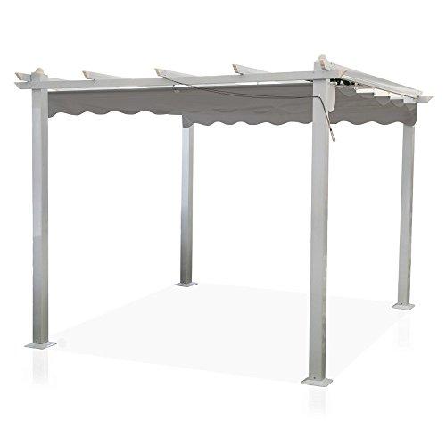 Gazebo Astoria 3x4m pali alluminio copertura apribile pergola veranda GA802001/T