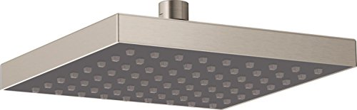 Delta Faucet Single-Spray Touch-Clean Rain Shower Head, Stainless 52841-SS