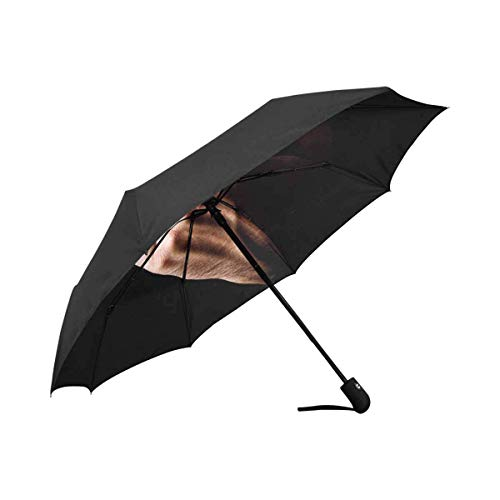 Menschliche Hand Gestikulieren mit Mittelfinger 100% Polyester Pongee Winddichter Stoff-Regenschirm Kompakter automatischer Falt-UV- und Regenschirm